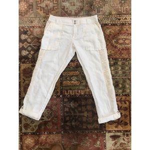 Marlena cream cropped trouser
